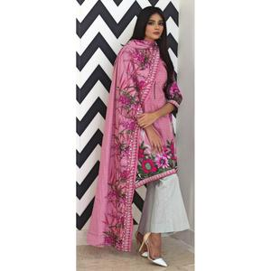 Rangreza Collection Printed Mid Summer Lawn Unstitched Suit - 3 Piece Volume-5