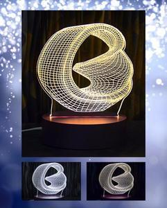 Bucket Shape 3D Acrylic Lamp With Plastic Base