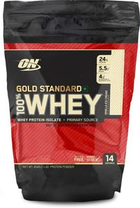 OPTIMUM NUTRITION - GOLD STANDARD 100% WHEY PROTEIN ISOLATE POWDER 1 LB (453 GRAM) FLAVOUR: VANILLA ICE CREAM MADE IN THE USA - EXP 2020