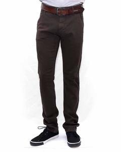 Dark Brown Classic Chino Dark Brown Jeans For Men-28