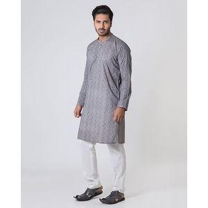 Gray Cambric Mens Kurta-97698