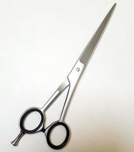 Professional Barber/Salon Razor Edge Hair Cutting Scissors/Shears (6 ½ Inch, Forged) - Detachable Finger Rest - Japanese Stainless Steel - Silver Matt Finish