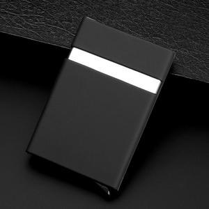 Automatic Pop up Aluminum Wallet RFID Blocking Credit Card Holder