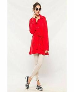 Long Coat With Front Pockets For Women