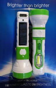 Solar Emergency Torch Rechargeable with Bright Light