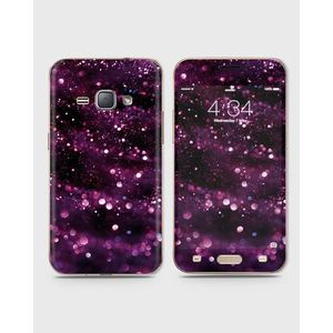 Samsung Galaxy J1 2016 (J110) Skin Wrap With Front Back And Sides Lilac Sparkles-1Wall455