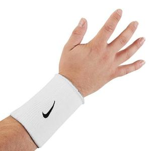 Nikee Dry-Fit Swoosh White Wristbands