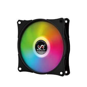 SOPLAY RGB Radiator LED PWM Adjustable Color Computer Case Fan Cooler Radiator Hydraulic Bearing