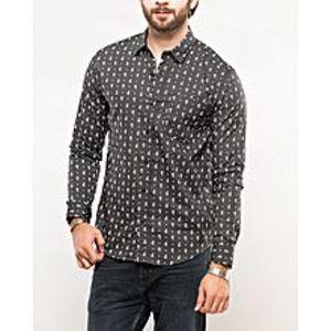 DenizenPlatinum Printed Cotton Heather L/S Woven Shirt Special Online Price