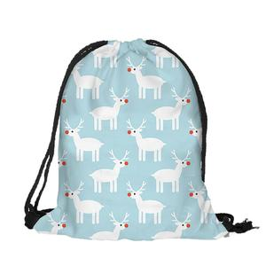 Happydeal Women Print Fashion Christmas Bag School Bags Drawstr Bag Christmas Backpack
