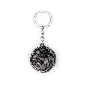 Keyring Stylish Keychain American TV Series Game Of Thrones Targaryen - Bronze