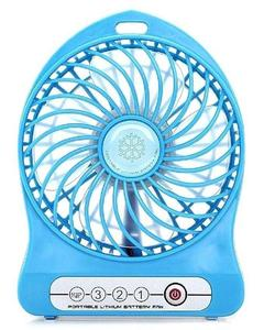 USB Rechargeable LED Fan Air Cooler - Blue