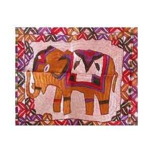 MerkaKraft Traditional Wall Hanging - ElephantHand Made-Multi Color