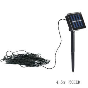 50 Led Solar Power Fairy Light String Strip Lamp Party Xmas Garden 4.5M