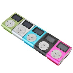 MP3 Player USB Clip 32GB Micro SD Card Slot