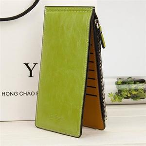Ultra-thin 16 Card Holder Zipper Long Purse Candy Color Wallet Coin Bags 5.5'' Phone Bag