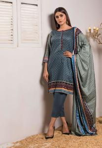 Rangreza Collection Printed Mid Summer Lawn Unstitched Suit - 3 Piece Volume-1