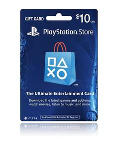 Playstation Store Gift Card - $10