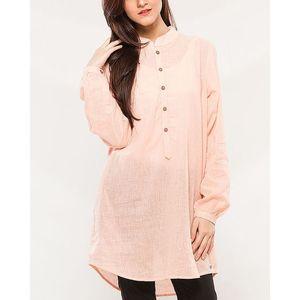 Denizen Pink Cotton Shirt for Women