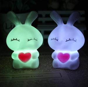 Rabbit Shape LED Bed Lamp Can Change 7 Colors