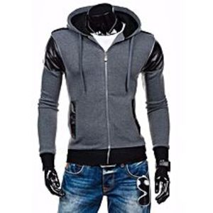 ArcherteesGrey Zipper Hoodie Style for Men
