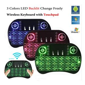 MINI TOUCH PAD RF 500 WIRELESS WITH 3 COLOUR BACKLIGHT KEYBOARD MOUSE