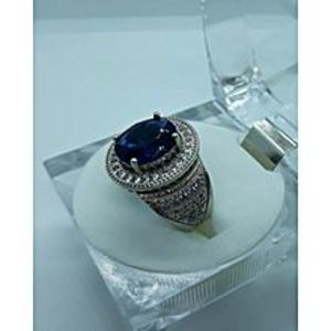 I S JewellersS925 Sterling Synthetic Blue Sapphire Ring for Men