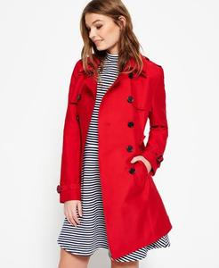 Superdry Belle Trench Coat letterbox red  Womens Coats