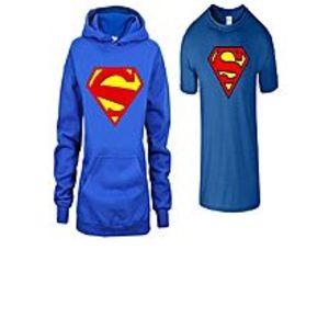Mart89Pack of 2 - Royal Blue Super Man Hoodie & T Shirt For Men
