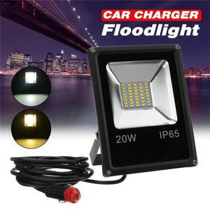 20W Outdoor LED Flood Light Work Lamp Car Charger Waterproof For Camping Travel