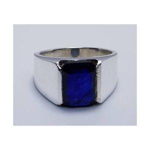 Natural Unheated Blu Sapphire Silver Ring