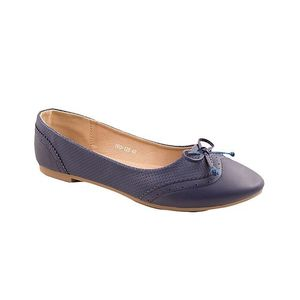 Navy Blue Artificial Leather Womens Pumps 060-128