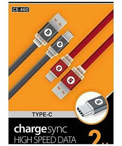 Modle Ce-460 Charge/Sync High Speed Data Cable Noodle Usb Cable - Red