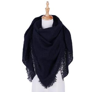 Womens Pashmina Shawl Wrap Scarf Solid Color Cashmere Shawl Loose Sweater