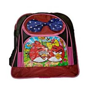 Hafiz Sports Parachute RED medium  ANGRY BIRD school bag