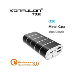 Konfulon Quick Charger (QC 3.0) 10000mAh PowerBank USB Type C Support For IPhone/Xiaomi/ Samsung/ Nokia/ Iphone/ Huawei/ Infinix/ Oppo