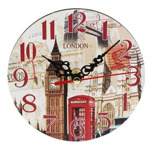 LALA Artistic Creative European Style Round Antique Wooden Home Wall Clock