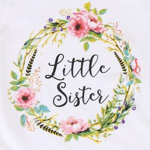 Stonershop Newborn Infant Baby Girl Letter Floral Romper Jumpsuit Sister Outfits Clothes