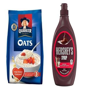 Pack Of 2- Oats 400G & Hersheys Chocolate Syrup 680G
