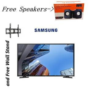 Samsung - 4K UHD LED TV - 32 inches - Free 2 Piece Speakers - Black