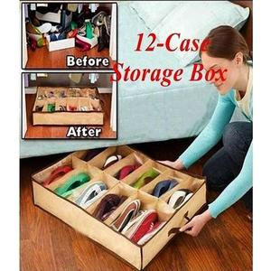 Pack Of 2 - Amazing Shoe Rack Shoe Shelf Shoe Storage + Shoe Under Bed Closet Organizer