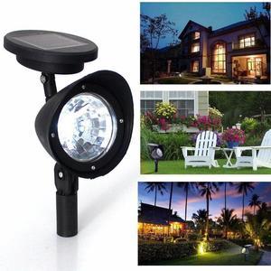 1Pc 3 LED Solar Light Home Garden Lawn Lamps Solar Powered Courtyard Lawn Spotlight Night Light Ground Light Warm White/0-5W