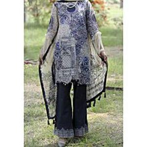 AlmirahBlue Lawn 3 PCS Unstitched Suit for Women