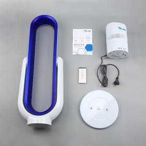 Portable Bladeless Fan 6A Remote Control Air Purifier Mute for Home Office