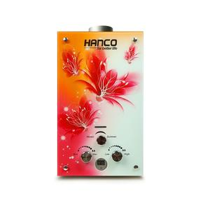 Hanco Instant Water Heater Imported - Tempered Glass Natural Gas Geyser 6 litre