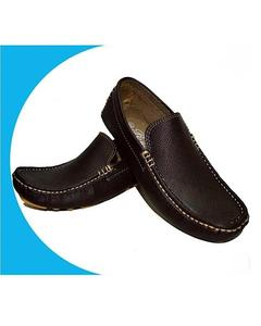 Brown Stylish Leather Shoes For Men