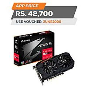 GigabyteAORUS Radeon? RX 580 8GB GDDR5 PCI Express 3.0 ATX Video Card