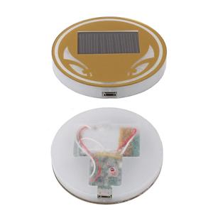 Universial Car Truck Interior Solar Energy Cup Pad Trim LED Light Lamp