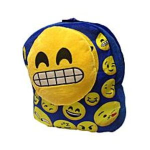 FISH Blue Woolen Smiley School Bag for Kids