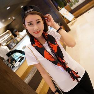Women Chiffon Scarf Large Satin Scarf Headband Summer Style Scarves
